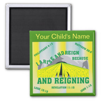 Custom Name I Arise and Reign Eng Magnet