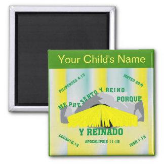 Custom Name I Arise and Reign Esp Square Magnet