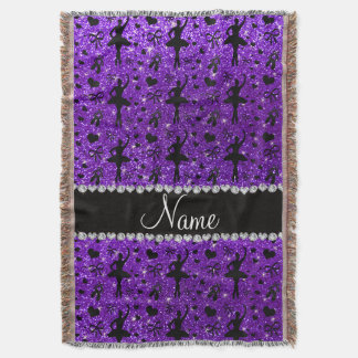 Custom name indigo purple glitter ballerinas