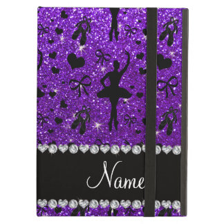 Custom name indigo purple glitter ballerinas iPad air cover
