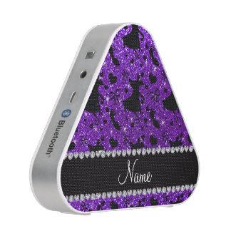 Custom name indigo purple glitter ballroom dancing speaker