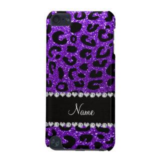 Custom name indigo purple glitter cheetah print iPod touch (5th generation) case