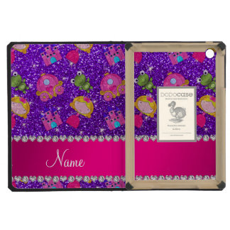 Custom name indigo purple glitter princess frogs iPad mini cases