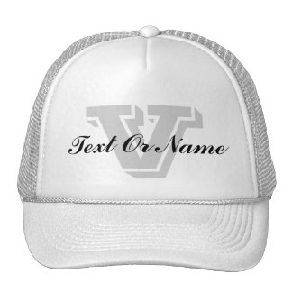 Custom Name, Initial Letter Monogram For Fathers Cap