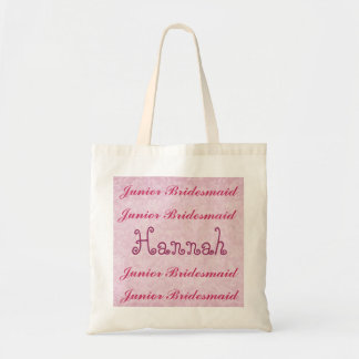Custom Name JUNIOR BRIDESMAID Pink Damask