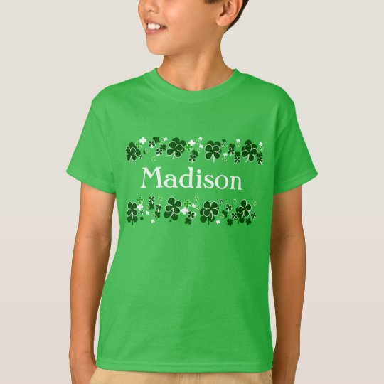 Custom Name Kids St. Patrick's Day T-Shirt