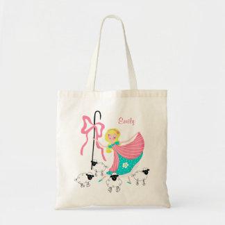 Custom Name Little Bo Peep Tote Budget Tote Bag