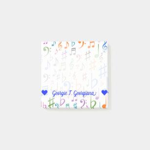 Music Note Symbol Post-it® Notes - Sticky Notes | Zazzle UK