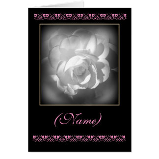 CUSTOM NAME Matron of Honour Invitation White Rose