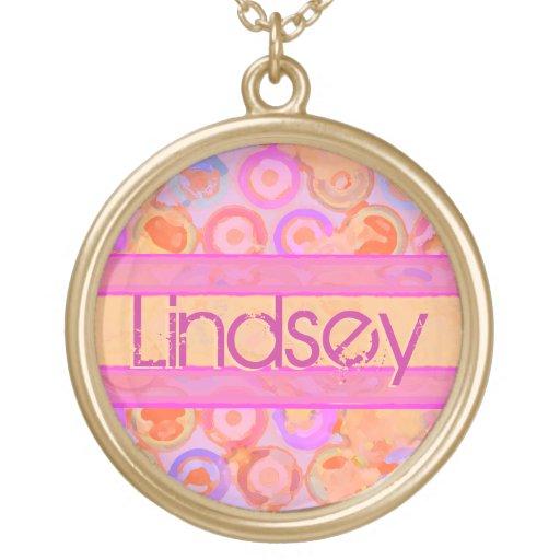 Custom Name Modern Circles Necklace