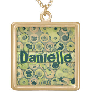 Custom Name Modern Circles Necklace