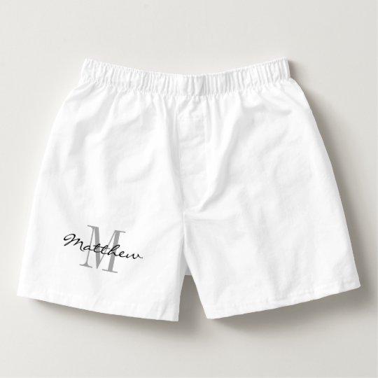 Custom name monogram boxer shorts for men boxers