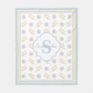 Custom Name / Monogram Girl Fleece Blanket, Medium