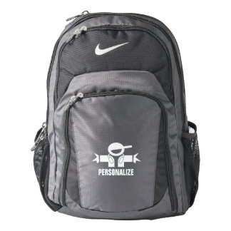 Custom name music deejay DJ logo Nike backpack