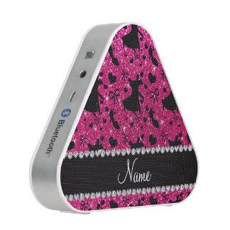 Custom name neon hot pink glitter ballroom dancing speaker