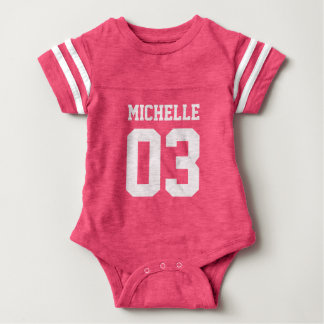 Custom Name Number Baby Sport Jersey Bodysuit