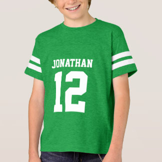 Custom Name Number Boys Sport Jersey Shirt