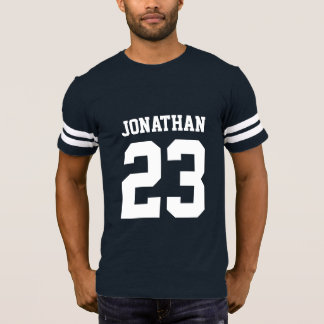 Custom Name Number Mens Sport Jersey T-Shirt