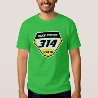 Custom Name Number Plate: Yellow - Dark Number Tshirts