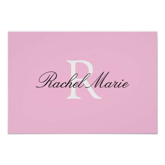 Custom name nursery art poster