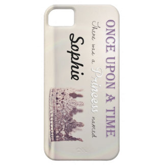 Custom name 'Once Upon a Time' Princess Crown Case For The iPhone 5