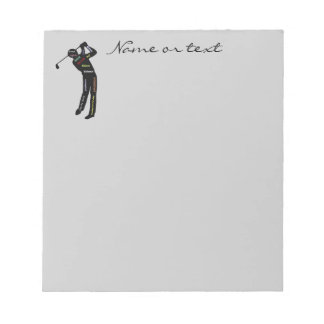Custom Name or Text Golf, Sport Motivational Words Notepad