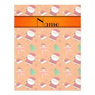 Custom name orange christmas gymnastics santas 21.5 cm x 28 cm flyer