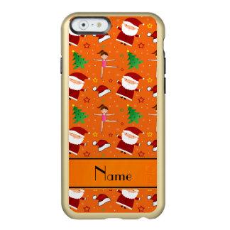 Custom name orange christmas gymnastics santas incipio feather® shine iPhone 6 case