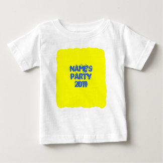 Custom Name. Party 2011. Bright Colorful Baby T-Shirt