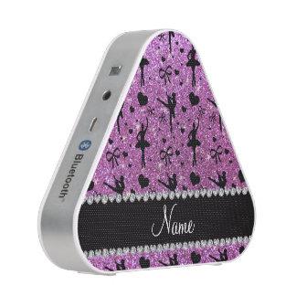 Custom name pastel purple glitter ballerinas