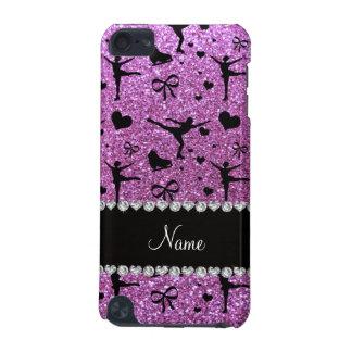 Custom name pastel purple glitter figure skating iPod touch 5G cover