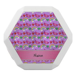 Custom name pastel purple watermelons rainbows white boombot rex bluetooth speaker