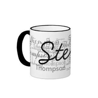 custom name personalized typography ringer mug