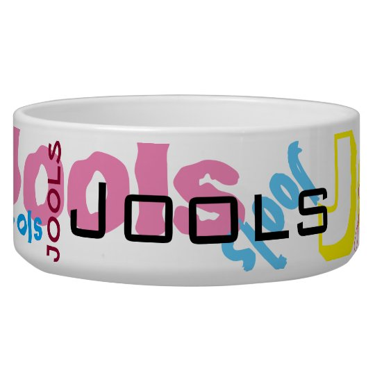Custom name pet food bowl