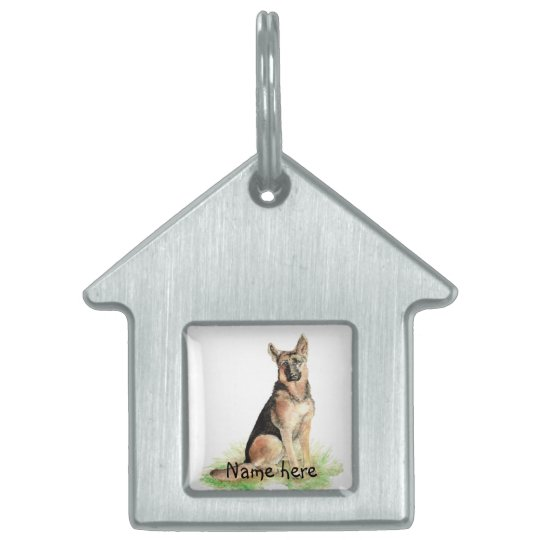 Custom Name Pet Tag German Shepherd Dog