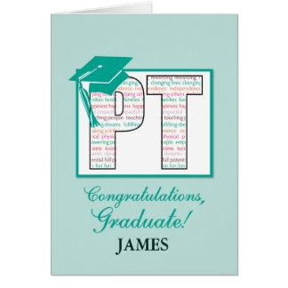 Custom Name Physical Therapy Graduation  Congratul Greeting Card