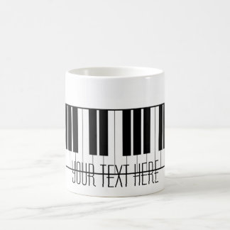 Custom Name Piano Keys Keyboard Teacher Student Coffee Mug