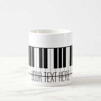 Custom Name Piano Keys Keyboard Teacher Student Coffee Mug
