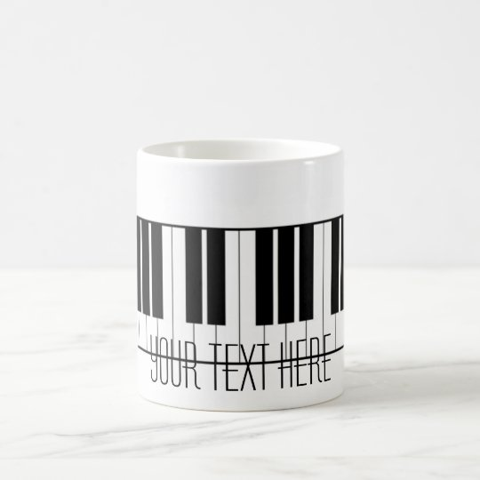 Custom Name Piano Keys Keyboard Teacher Student Coffee