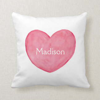 Custom name pillow Personalized cushion Heart Art
