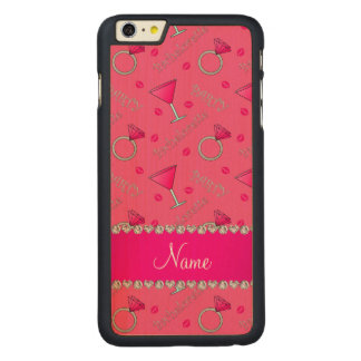 Custom name pink bachelorette cocktails rings iPhone 6 plus case
