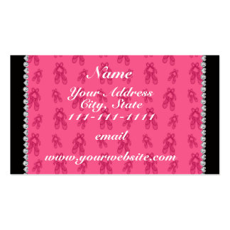 Custom name pink ballet shoes pack of standard business cards