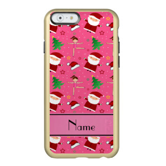 Custom name pink christmas gymnastics santas incipio feather® shine iPhone 6 case