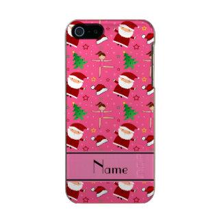 Custom name pink christmas gymnastics santas incipio feather® shine iPhone 5 case