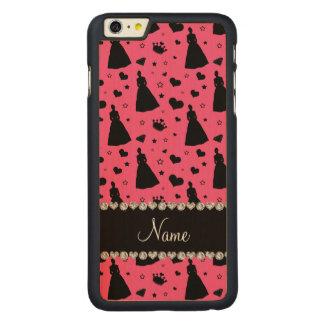 Custom name pink princess hearts stars crown iPhone 6 plus case
