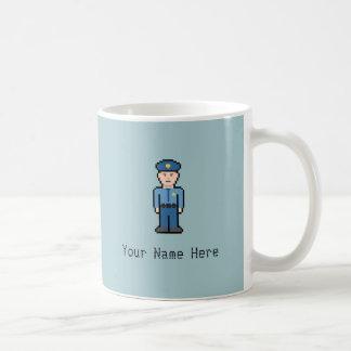 Custom Name Pixel Cop Coffee Mug