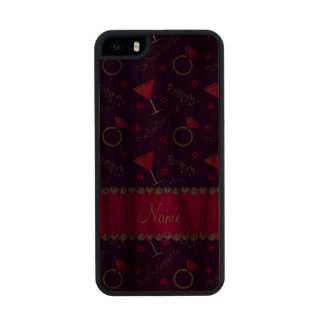 Custom name purple bachelorette cocktails rings iPhone 6 plus case