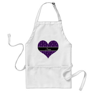 Custom name purple ballet shoes standard apron
