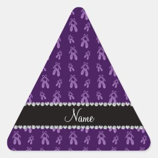 Custom name purple ballet shoes sticker