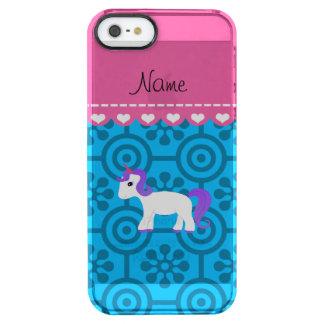 Custom name purple hair unicorn blue retro flowers iPhone 6 plus case